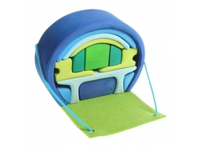 Grimm´s Přenosný domeček, 14 dílů - modrý
