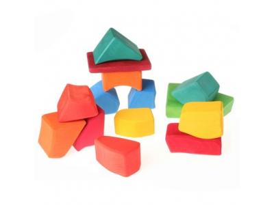 Grimm´s Waldorfské kostky barevné - velké, 15 kusů