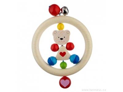 Heimess Motorická hračka pro miminka - Medvídek se srdíčkem
