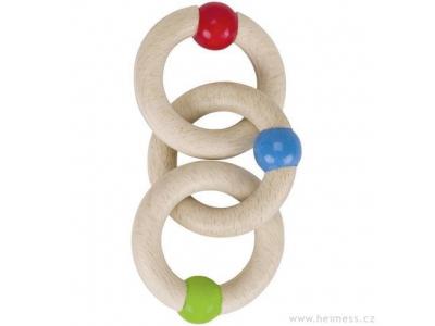 Heimess Tři kroužky - dřevěná hračka pro miminka