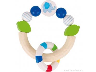 Heimess Modré slůně - dřevěná hračka pro miminka