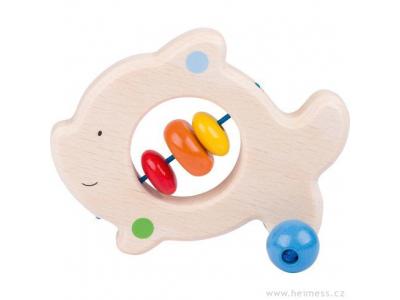 Heimess Rybička – dřevěná hračka do ruky pro miminka