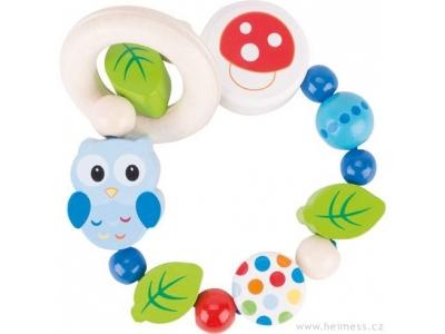Heimess Elastická hračka pro miminka - Sova