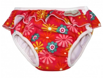 Imse Vimse Plenkové plavky - Kopretiny růžové (s kanýrkem)