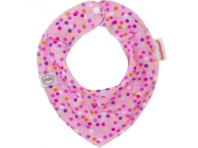 Imse Vimse Šátek slintáček - bublinky růžové