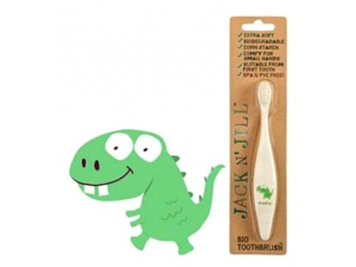 Jack n´Jill BIO zubní kartáček pro děti ultra soft - Dino