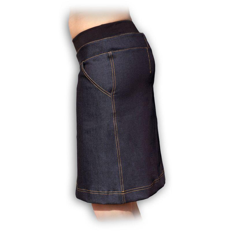 Jožánek Těhotenské riflová sukně ke kolenům KRISTÝNA - Eco Capart 19227f9a1a