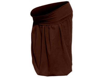 Jožánek Těhotenská balonová sukně - čoko hnědá, S/M