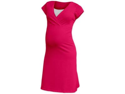 Jožánek Těhotenská a kojící noční košile EVA - sytě růžová