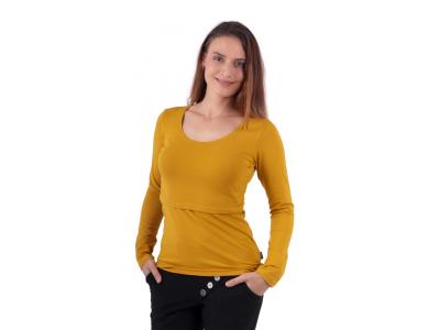 Jožánek Kojicí tričko KATEŘINA, dlouhý rukáv, hořčicové