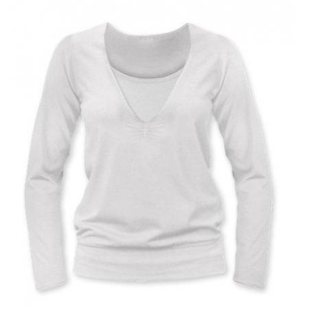 Jožánek Kojící tričko KARLA (dlouhý rukáv) - smetanová 15a7339984