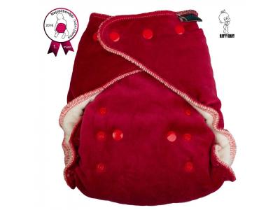 Katyv Baby Noční kalhotková plena na patentky - červená