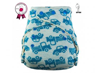 Katyv Baby VLNĚNÉ svrchní kalhotky na patentky - Auta