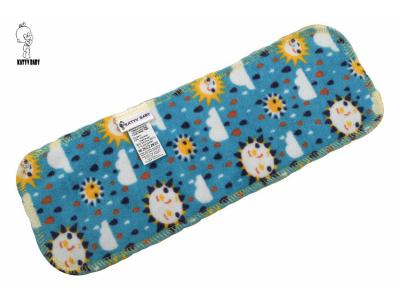 Katyv Baby Bambusová vkládací plena - modrá se sluníčky