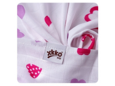KIKKO Bambusová osuška XKKO BMB 90x100 - Lilac Hearts