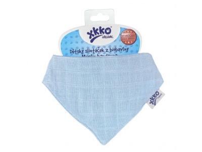 Kikko Dětský slintáček XKKO Organic Staré časy Sky Blue - 1ks