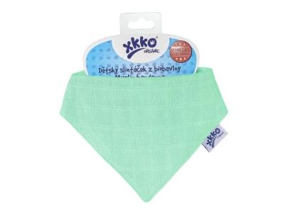 Kikko Dětský slintáček XKKO Organic Staré časy  Lights Green - 1ks