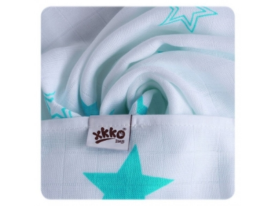 KIKKO Bambusová osuška XKKO BMB 90x100 - Turquoise Stars