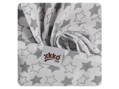 KIKKO Bambusová osuška XKKO BMB 90x100 - Little Stars Silver