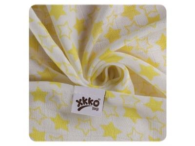 KIKKO Bambusová osuška XKKO BMB 90x100 - Little Stars Lemon