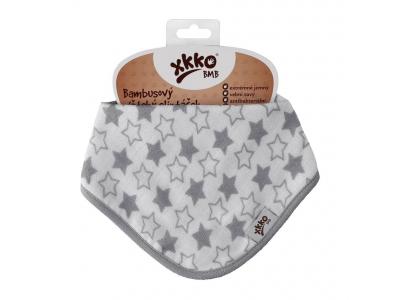 Kikko Dětský bambusový šátek/slintáček Little Stars Silver