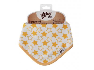 Kikko Dětský bambusový šátek/slintáček Little Stars Orange