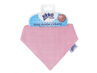 Kikko Dětský slintáček XKKO Organic Staré časy Light Pink - 1ks