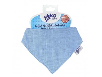 Kikko Dětský slintáček XKKO Organic Staré časy Ocean Blue - 1ks