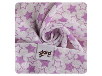 KIKKO Bambusová osuška XKKO BMB 90x100 - Little Stars Lilac - 1ks