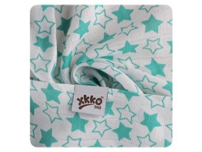 KIKKO Bambusová osuška XKKO BMB 90x100 - Little Stars Turquoise - 1ks