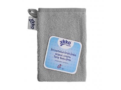 KIKKO BIO bavlněná froté žínka XKKO Organic - Silver