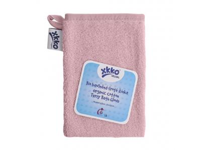 KIKKO BIO bavlněná froté žínka XKKO Organic - Baby Pink