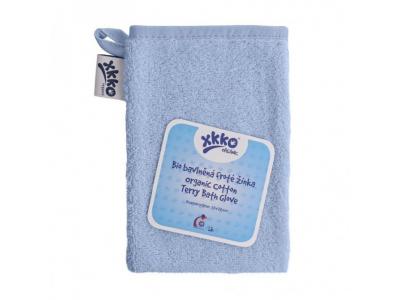 KIKKO BIO bavlněná froté žínka XKKO Organic - Baby Blue