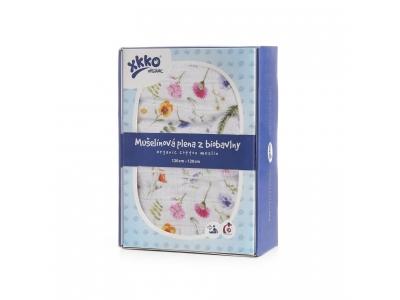 KIKKO Biobavlněná plena XKKO Organic 120x120 - Summer Meadow