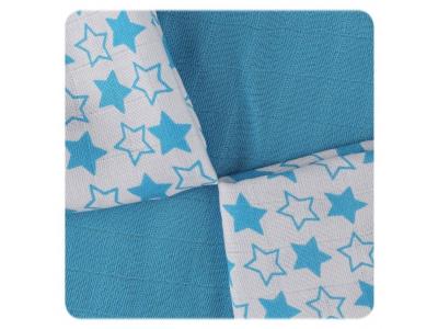 KIKKO Bambusové ubrousky Little Stars Cyan MIX 30x30cm 9ks