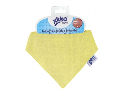 Kikko Dětský slintáček XKKO Organic Staré časy Wax Yellow - 1ks