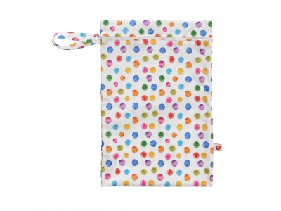Kikko Nepromokavý pytlík XKKO Velikost M - Watercolour Polka Dots
