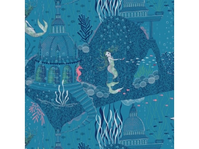Úplet z BIO bavlny - Mořská panna