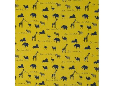 Úplet z BIO bavlny - Be Wild hořčičná žlutá