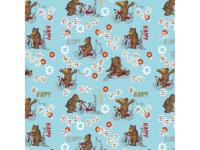 Úplet z BIO bavlny - Medvídkovo nové kolo