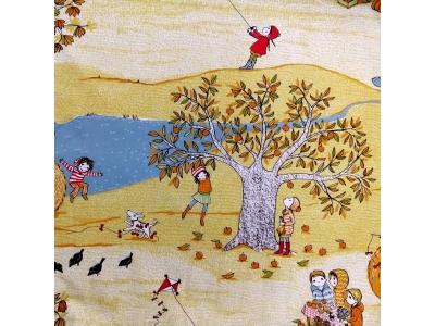 Úplet z BIO bavlny - Roční období - podzim