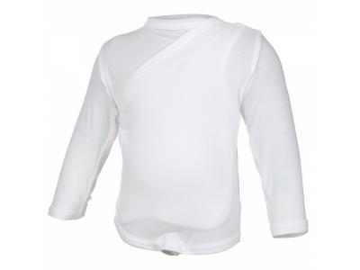 Little Angel Zavinovací body Outlast®, dlouhý rukáv - bílé
