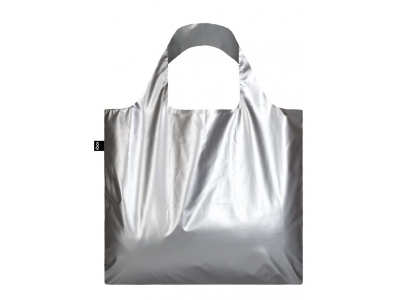 LOQI - METALLIC Matt Silver Bag