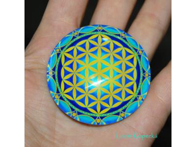 Magnet kulatý - Květ života