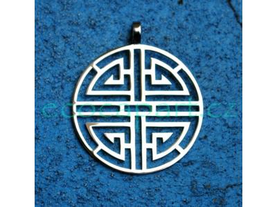 Přívěsek z nerezové oceli - Čínský symbol bohatství Lu, 35 mm