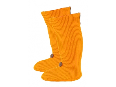 Manymonths Merino botičky knoflík - Saffron Yellow