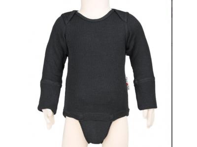 ManyMonths body/tričko merino - Foggy Black