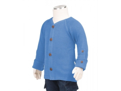 Manymonths kabátek merino 2017 - Provence Blue