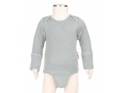 ManyMonths body/tričko merino - Bright Silver
