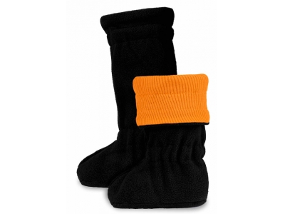 Manymonths Botičky merino/flís WINTER 2018 - Festive Orange / Black